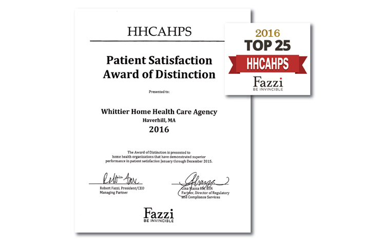 Fazzi Associates' Patient Satisfaction Award of Distinction for Demonstrating Superior Performance in Patient Care
