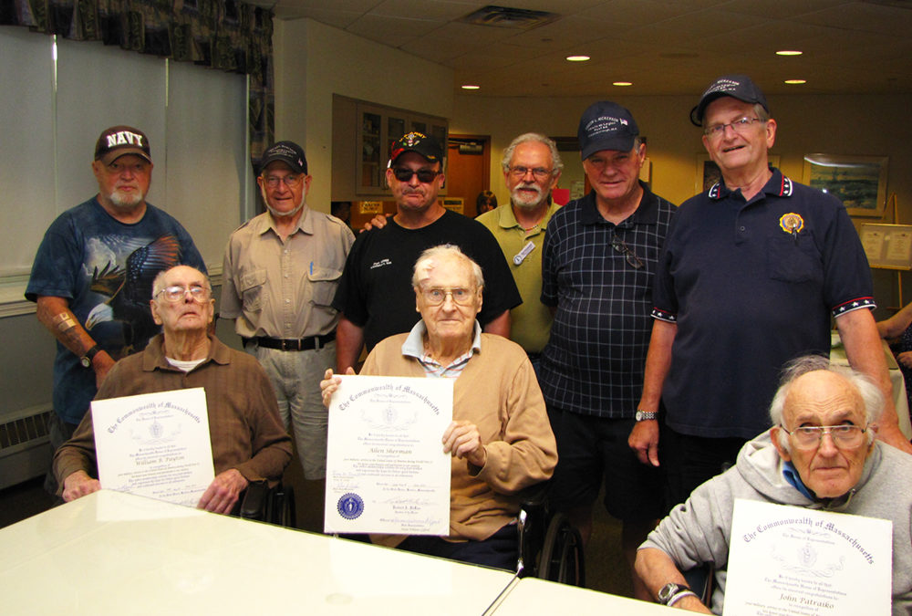 Nemasket Healthcare Center Middleboro MA World War II veterans receive honorary citations