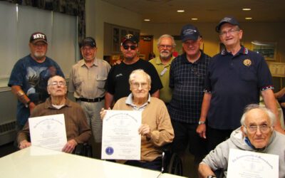 WWII Veterans at Nemasket Healthcare Center were honored with citations for their service