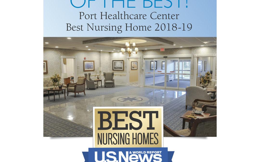 "Port Healthcare Center in Newburyport MA ""Best Nursing Home"" (skilled nursing facility) award - U.S. News & World Report"