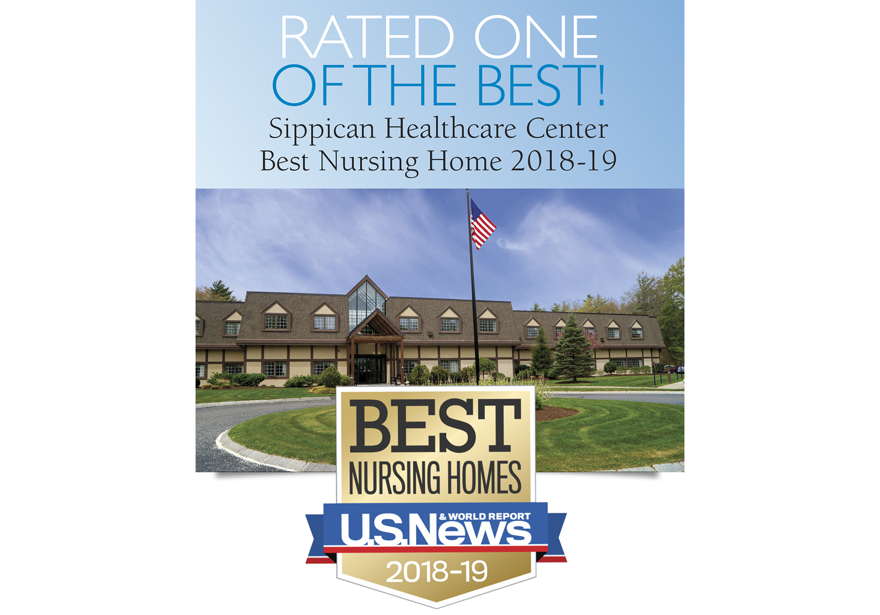 "Sippican Healthcare Center in Marion MA ""Best Nursing Home"" (skilled nursing facility) award - U.S. News & World Report"