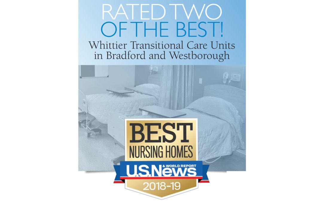 """Best Nursing Homes"" by U.S. News & World Report 2018-19"