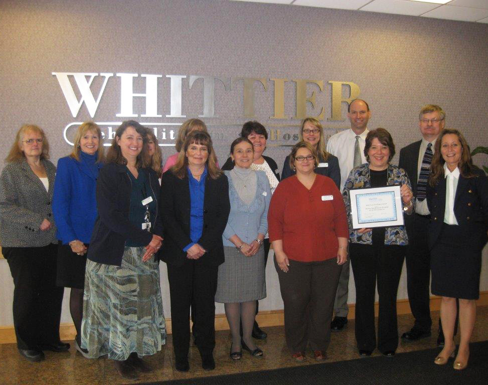 Whittier Rehabilitation Hospital and KYOS System, Inc. team up to win MaHIMA HIM Team Excellence Award on March 20, 2014