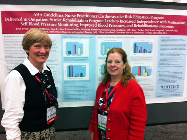 Whittier's Dr. Joan Breen and Nurse Practitioner Jeanne Andrusin were honored to present their Abstract on Day Rehab Outcomes at the 2014 International Stroke Conference in San Diego.
