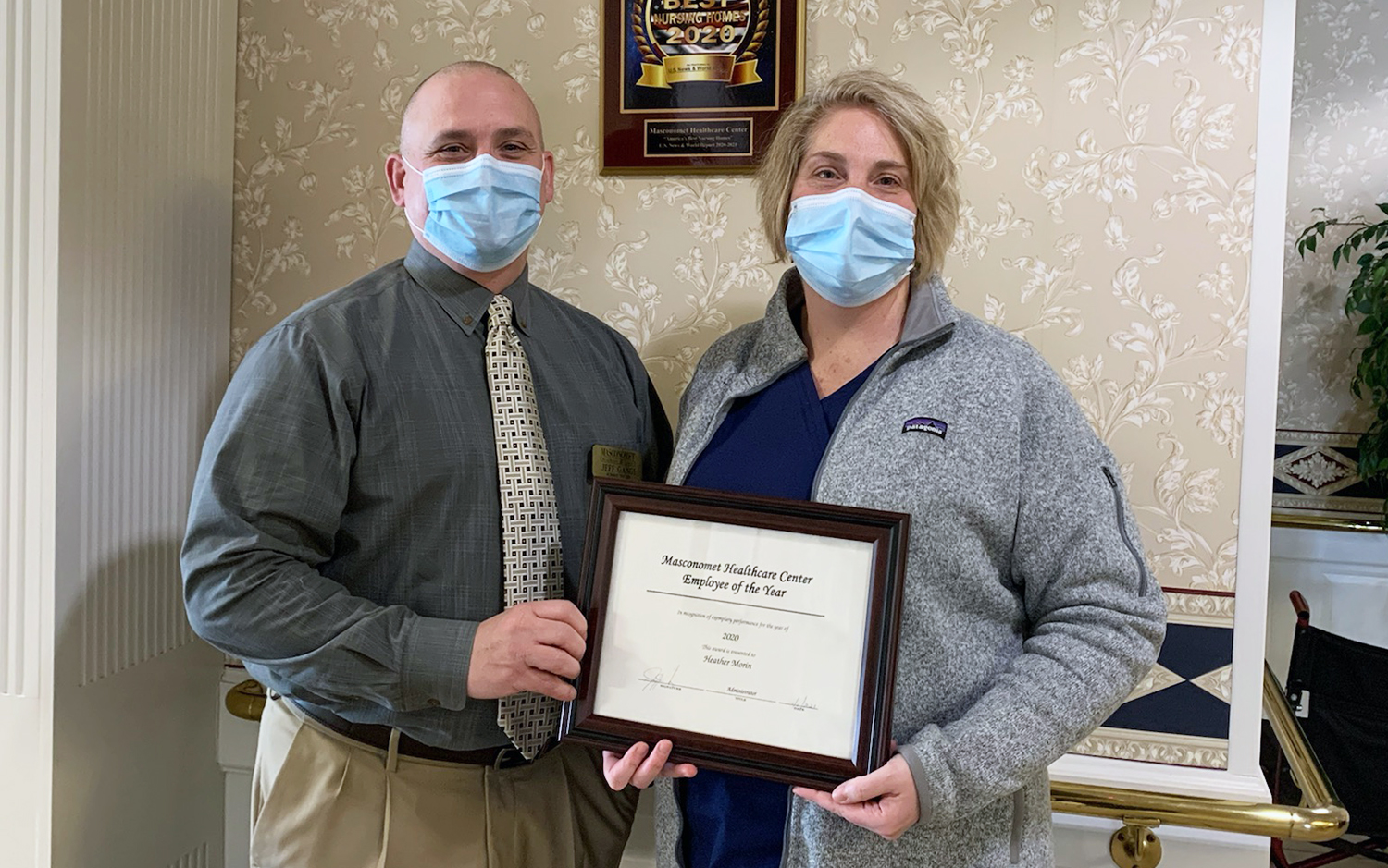 Heather Morin, RN, Clinical Liaison, of Masconomet Healthcare Center Named Employee of the Year