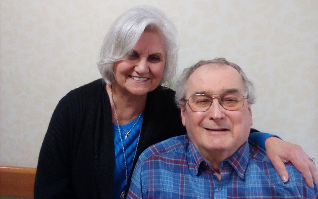 """An interview with Marie + Ed Udas (and Sharon Gosling) at Nemasket Healthcare Center: .""""..it's a joy to be able to be with each other every day."""""""